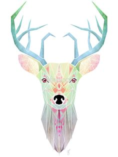 white deer by Manoou