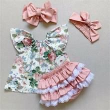 Emmababy Newly Summer Infant Baby Girl Newborn Cotton Linen Outfit Set Fashion Little Girls Button Top+Shorts Dropship-in Clothing Sets from Mother & Kids on AliExpress Toddler Outfits, Kids Outfits, Summer Outfits, Lace Tops, Floral Tops, Floral Prints, Bow Shirts, Friend Outfits, Outfit Sets