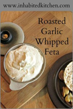Roasted Garlic Whipped Feta combines two wonderful flavors into one easy to make, convenient spread! Serve with crackers or vegetables as part of lunch, as party food, or as a flavorful snack!