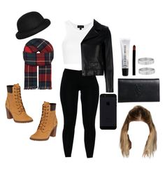 """""""Untitled #220"""" by mitchell1234 ❤ liked on Polyvore featuring Topshop, Morgan, Johnstons, Timberland, Yves Saint Laurent, Giorgio Armani, Cartier and Bobbi Brown Cosmetics"""