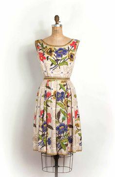 vintage 1950s dress Vintage Outfits, Vintage 1950s Dresses, Vestidos Vintage, Vintage Wear, Vintage Clothing, 1950s Style, Estilo Retro, 1950s Fashion, Vintage Fashion