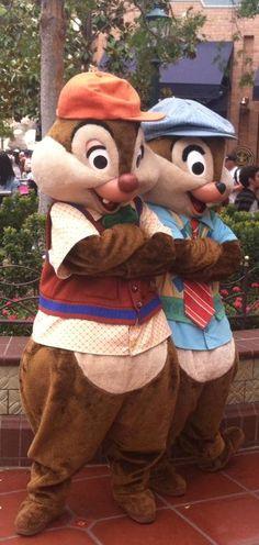 Chip 'n Dale at Disney California Adventure at Disneyland - California.