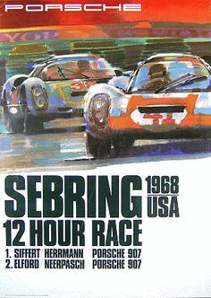 Great vintage Porsche poster Constructeur Automobile 31534710e2a3