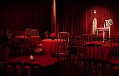 Step into 1920s Buenos Aires. The Faena cabaret is a place of sensuality and style, awash in red velvet and gold trim.   A small stage is available, along with a bandstand and full sound system.