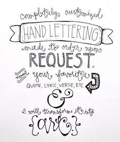 Custom Hand Lettering Art