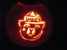 smokey the bear pumpkin carving