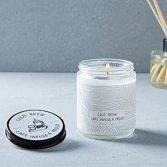 Café Scented Candle + Diffuser - Cold Brew #westelm