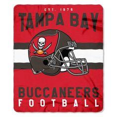"""Tampa Bay Buccaneers 50"""" X 60"""" Singular Fleece Throw Blanket"""
