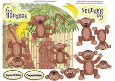 Go Bananas and Monkey Around with Decoupage on Craftsuprint - Add To Basket!