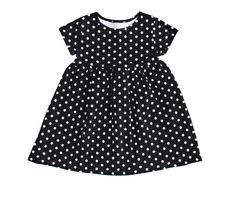 Black/White Dot Dress - Cap Sleeves - Baby Dress - Toddler Dress - Kids Dress - Sizes Infant to Girls 7 by LittleFootBoutique on Etsy https://www.etsy.com/listing/219625949/blackwhite-dot-dress-cap-sleeves-baby