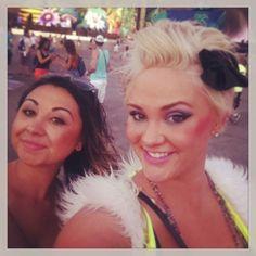 Me and Sade next to the main stage at EDC 2013 Las Vegas! #EDC #