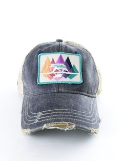 Mama Bear Trucker Hat – The Rollin' J | distressed | trucker hat | Mama Bear | navy | vintage wash | summer style | accessories | summer | therollinj.com