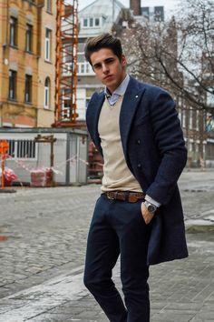 a blue #LBM1911 casentino coat for Matthias Geerts #MattG
