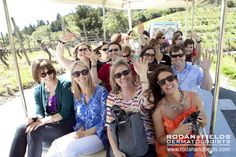 Yes that's me on an all expense paid trip to wine country, thanks to our fabulous Drs. Katie Rodan and Kathy Fields...  enjoying a tour of the Benzinger Family Winery during Rodan + Fields Level V Arrival