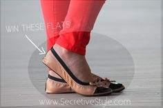 Win this adorable pair of flats from Fit in Clouds on www.SecretiveStyle.com! #style #giveaway