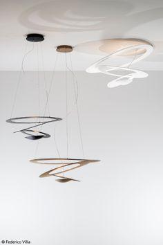 Suspension, ceiling, wall, black, gold, white, classic, micro, mini…. What is your favorite #Pirce ? #design Giuseppe Maurizio Scutellà
