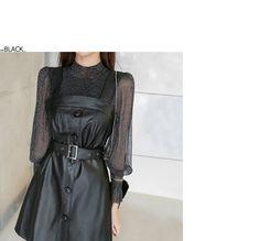 f498636d51 Buy DABAGIRL Set  Glitter Tulle Top + Faux-Leather Bustier Dress