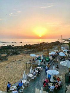 Pôr-do-sol @ Praia da Luz Sunset @ Praia da Luz, Porto