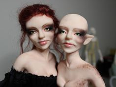 OOAK Nightswood Art Dolls: Work in Progress