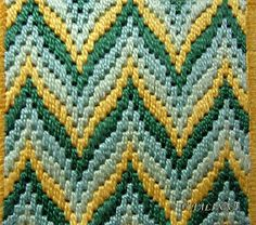 Discover thousands of images about Bargello clutch :: test Motifs Bargello, Broderie Bargello, Bargello Patterns, Bargello Needlepoint, Bargello Quilts, Hand Embroidery Stitches, Embroidery Techniques, Cross Stitch Embroidery, Cross Stitch Patterns
