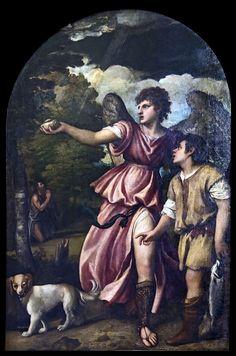 Madonna dell'Orto (Venice) - Chapel Vendramin - Arcangel Raphael and Tobias by Titien - Chiesa della Madonna dell'Orto - Wikipedia