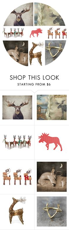 """Reindeer Games"" by jillsjoyagol ❤ liked on Polyvore featuring Meri Meri and Shea's Wildflower Company"