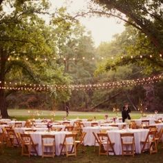 How beautiful are these string lights! They create a romantic glow as you dance the night away! Image via Glendalough Manor Bride!