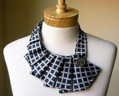 collana di stoffa fatta a mano riciclata