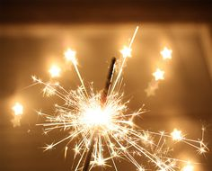 Sparklers. Reminds me of new years and 4th of July celebrations as a kid.