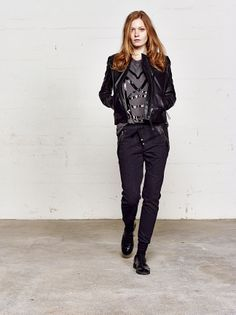 Mos Mosh Bronx_Tee Gallery_Leather_Jacket_#1 Lucce_Leather_Combi_Pants