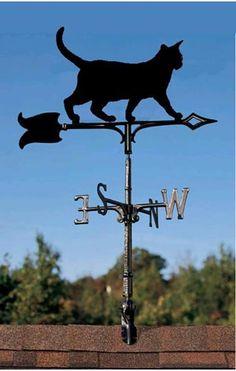 black cat weathervane