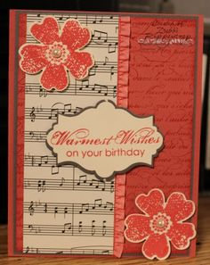 Strawberry Flowers by Motherof6 - Cards and Paper Crafts at Splitcoaststampers