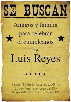Fiesta De Cumpleaños Vaquero - Free Printable Invitation Template   Greetings Island