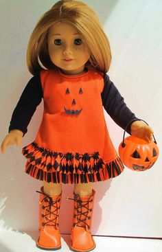 Halloween Dress for 18 Inch Dolls by dollCLOTHEStique on Etsy, $18.00