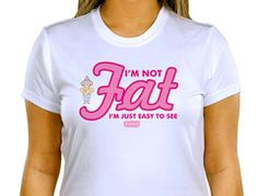 I'm not Fat T-shirt – The Official Aunty Acid Store
