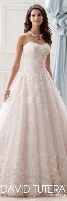 The David Tutera for Mon Cheri Spring 2015 Wedding Dress Collection - Style No. 115253 Paris   davidtuteraformoncheri.com  #weddingdresses