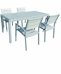 Τραπέζι Κήπου Αλουμινίου-Polywood-Ferrara White 120X70εκ