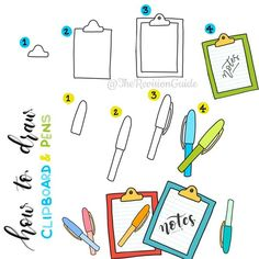 #TRG_RandomDoodle . . . . . . #stationeryaddict #stationery #clipboard #pen…