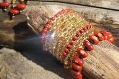 Yellow Topaz and Ininti seads bracelet set by VikaRepka Beaded Jewellery, Handmade Beaded Jewelry, Beaded Bracelets, Bracelet Set, Topaz, Yellow, Fashion, Moda, Pearl Bracelets