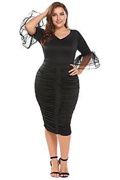 Zeagoo Womens Plus Size 3/4 Flare Sleeve Ruched Party Coc... https://www.amazon.com/dp/B074QKLGJ6/ref=cm_sw_r_pi_dp_U_x_F4PyAbW746H9T