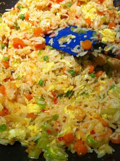 Great eats, shrimp fried rice recipe, family meal, recipe, healthy family picture #Rice #Recipes
