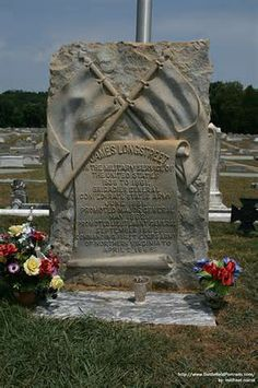 Grave Marker- James Longstreet, Confederate general. Longstreet's remains are buried in Alta Vista Cemetery. He outlived most of his detractors, and was one of only a few general officers from the Civil War to live into the 20th century.