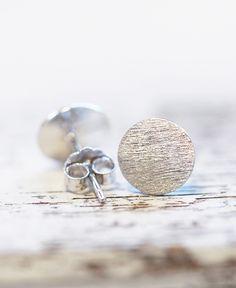 "Große Uhrstecker ""Circle"" // 925er Silber #earrings #ohrringe #schmuck #jewelry #silber #gold #silver #design #pikfine #cologne #köln #ehrenfeld #germany"