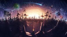 Xbox One Games, Epic Games, Alien Worlds, Cosmos, Game Art, Celestial, Illustration, Backgrounds, Inspired