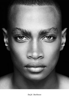 Dajé Barbour. Honestly, one of the most stunning models I've ever seen. Scary beautiful.