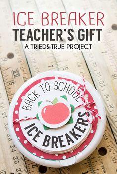 Ice Breaker Back-To-School Teacher's Gift - A sweet and practical gift for a new school year! #backtoschool #handmadegift