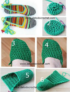 Shoes With Ankle Tie for Super Cute stylesidea- Diy Crochet Slippers, Crochet Slipper Pattern, Crochet Baby Sandals, Crochet Patterns, Diy Crafts Crochet, Crochet Gifts, Love Crochet, Easy Crochet, Crochet Accessories