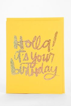 The Social Type Holla Birthday Card - Urban Outfitters
