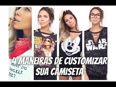 4 MANEIRAS DE CUSTOMIZAR SUA CAMISETA por dicadaka - YouTube