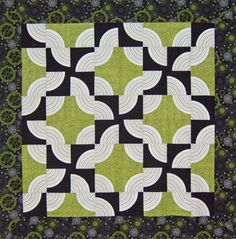 drunkards path quilt pattern | Drunkard's Path Done Up:
